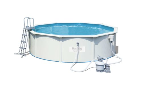Bestway Zwembad Jersey set rond Ø460cm x 120cm - wit | Buitenspeelgoed
