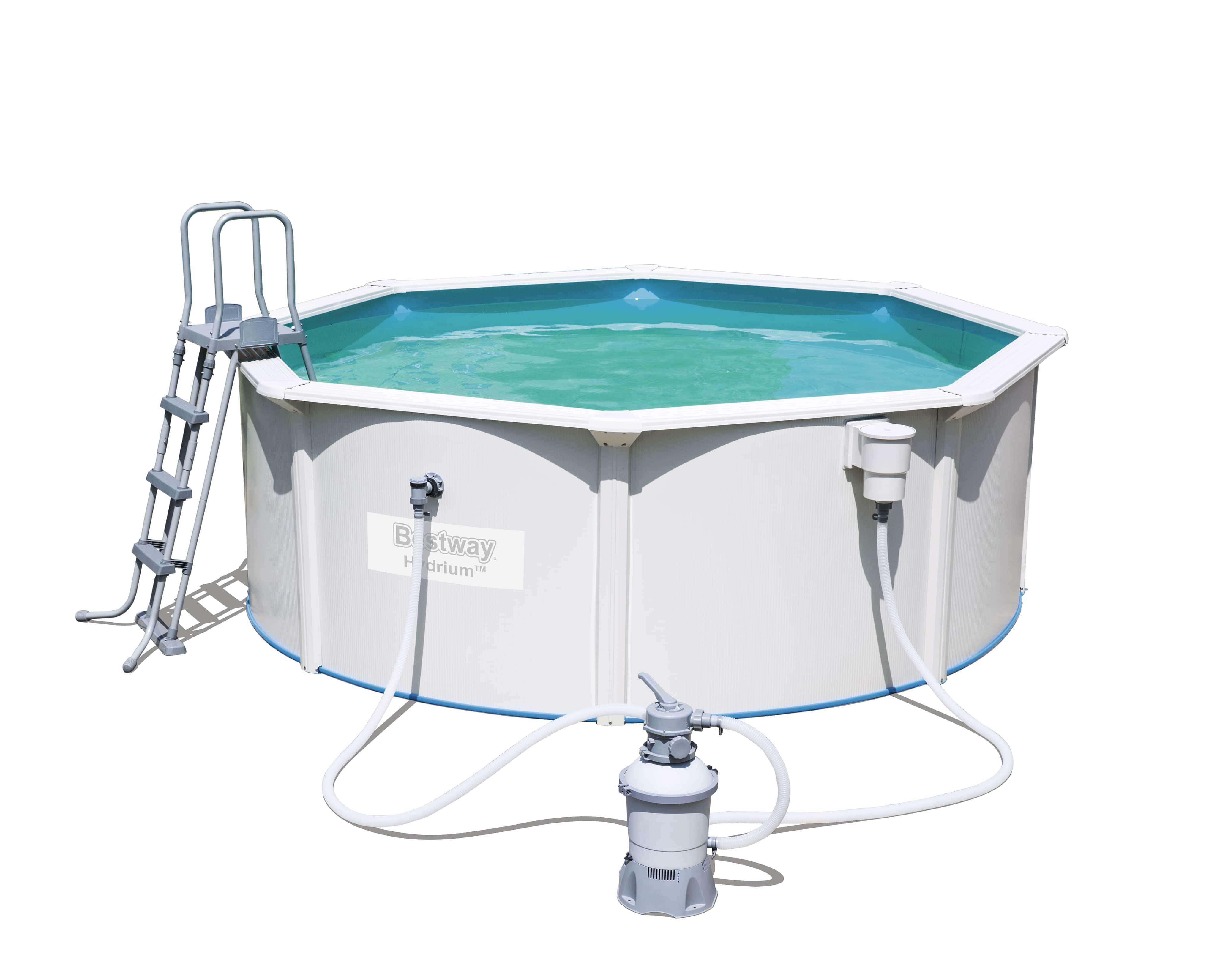 Bestway Zwembad Jersey set rond Ø360cm x 120cm - wit | Buitenspeelgoed