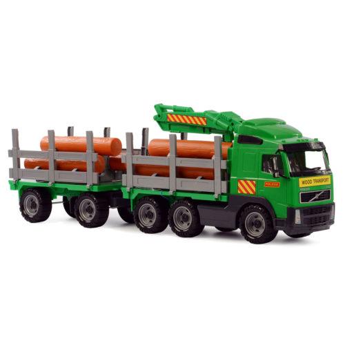 Polesie Volvo Houttransport Vrachtwagen met Aanhanger