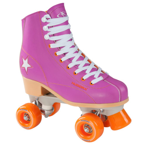 Hudora Disco Rolschaatsen Paars/Oranje