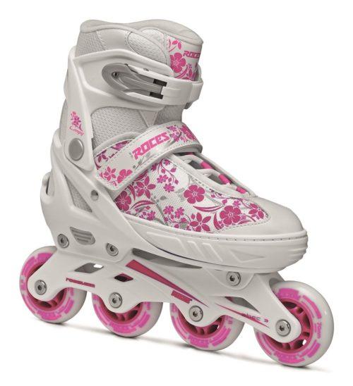 Roces Kinderskeelers meisjes Compy 8.0 verstelbaal - wit/roze