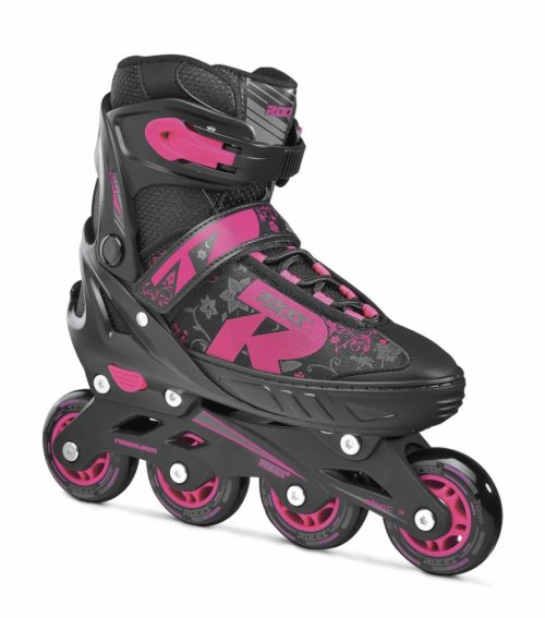 Roces Kinderskeelers meisjes Jokey 2.0 verstelbaar - zwart/roze