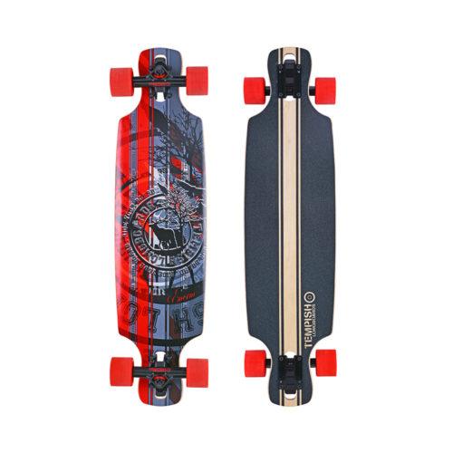 Tempish Longboard Splash 81 cm - zwart/rood