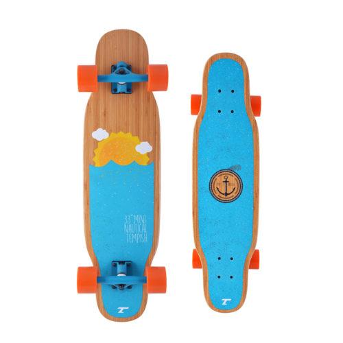 Tempish Longboard Mini Nautical 84 cm - blauw/oranje