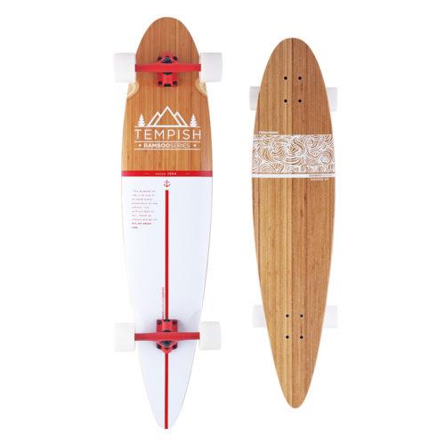 Tempish Longboard Flow 109 cm - wit/bruin