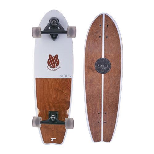 Tempish Longboard Surfy 83 cm - bruin/wit