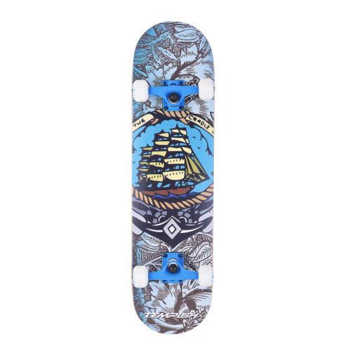 Tempish Skatebaord Black Bart  79 cm - blauw/wit