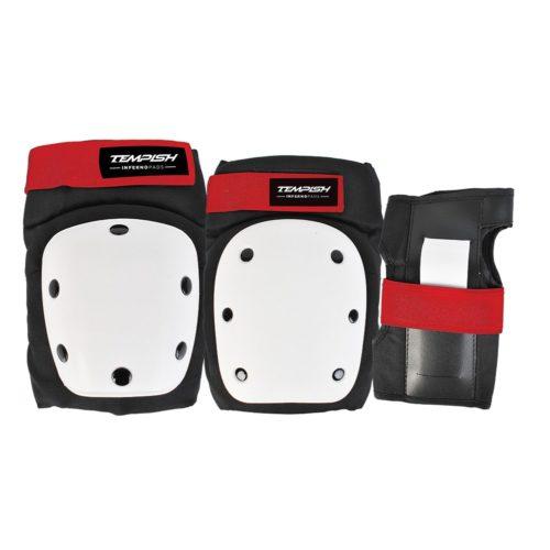 Tempish Beschermset Downhill 3-set - zwart/wit/rood