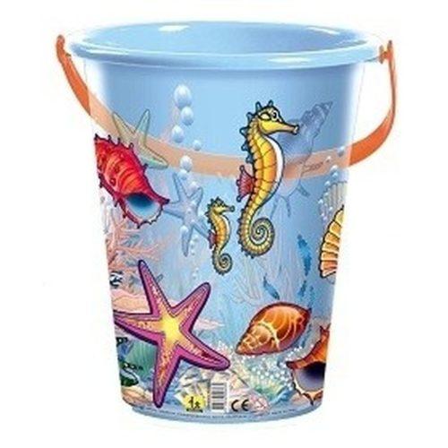 Blauwe speelgoed strandemmer schelpen/zeedieren 10120296
