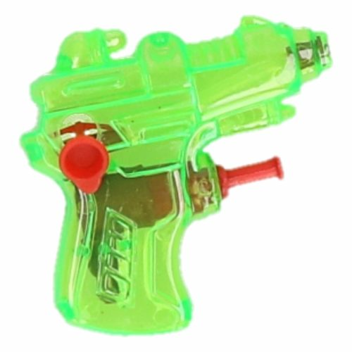 Mini waterpistool groen 7 cm 10087314