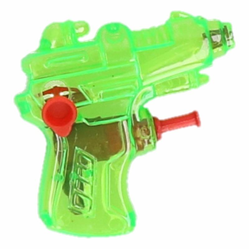 Mini waterpistool groen 7 cm 10087314