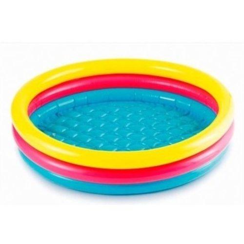Gekleurd rond opblaasbaar zwembad klein 61 cm baby/kinderen 10152316