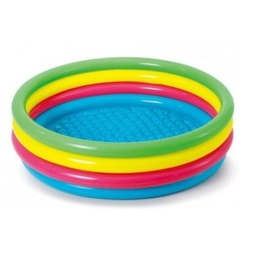 Gekleurd rond opblaasbaar zwembad 150 cm voor kinderen 10152340