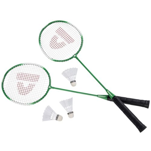 Badminton set groen met 3 shuttles en opbergtas 67 cm 10158381