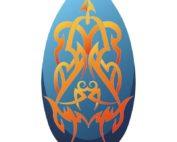 Skimboard Tribal blauw/oranje 100cm 10114497