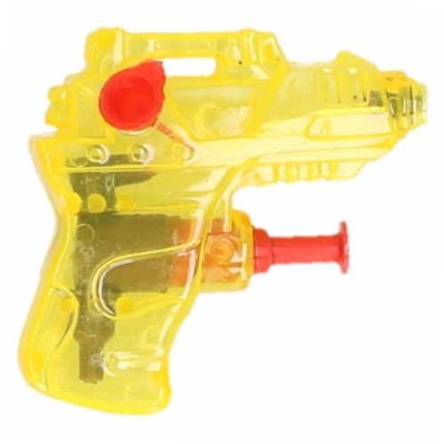 Mini waterpistool geel 7 cm 10087564