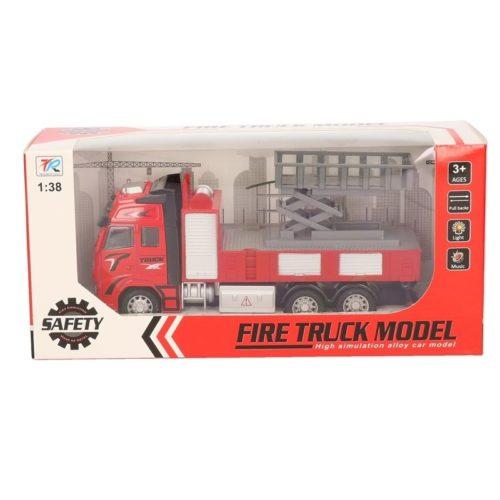 Speelgoed auto brandweerwagen met hoogwerker 18 cm 10139635