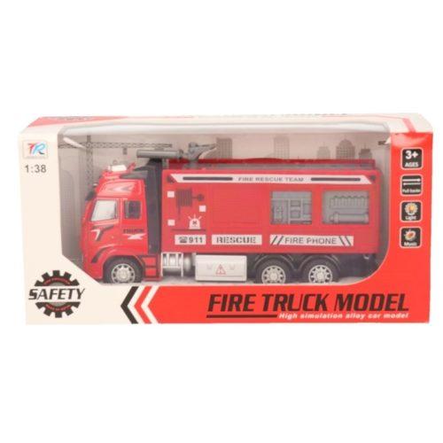Speelgoed auto brandweerwagen/blusauto 18 cm 10139639