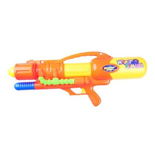 Oranje mega waterpistool met pomp 60 cm 10070642