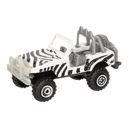 Jeep safari speelgoedauto zebra print 7 cm 10125754