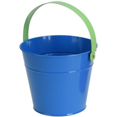 Blauwe stalen speelgoed emmer 16 cm voor kinderen 10146874