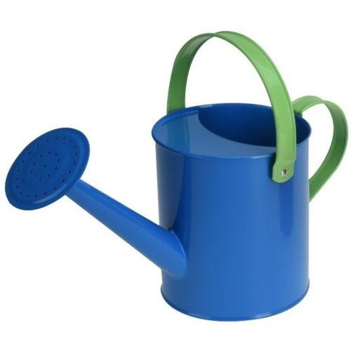 Blauwe stalen speelgoed gieter 15 cm voor kinderen 10146884