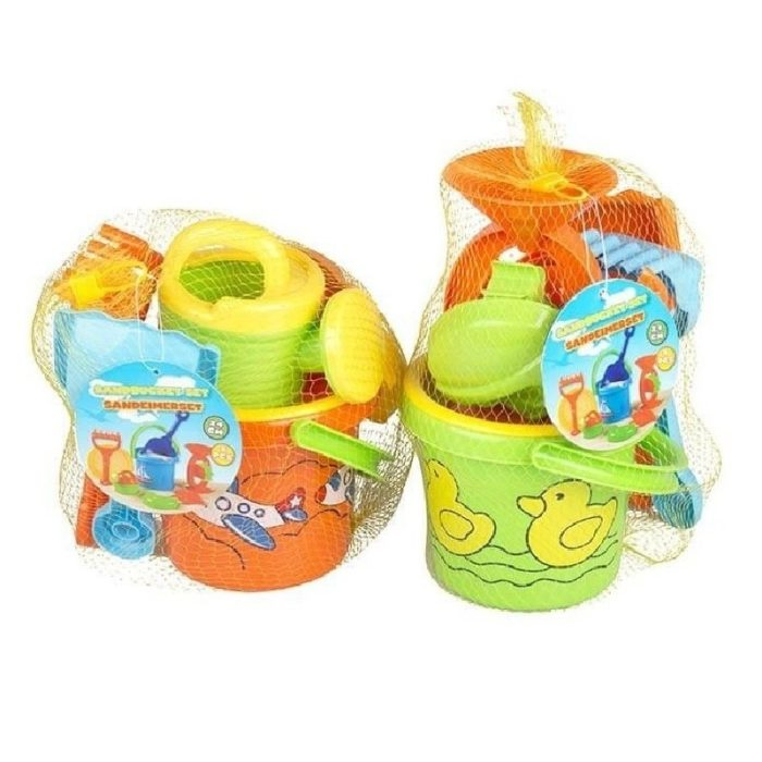 1x Strand/zandbak speelgoed emmer met vormpjes en schepjes 10156918